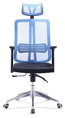 JIAH Bureaustoel Mid-Back Ergonomische Executive Bureaustoel Rolling Swivel Bureau Taak Mesh Stoel Met Armen Verstelbare Hoogte Computer Stoel Voor Rugsteun Blauwe Bureaustoelen