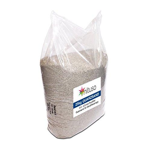 Mituso Quarzsand, Filtersand, Körnung 0,4-0,8mm, Aquariumsand, (1 x 25kg)