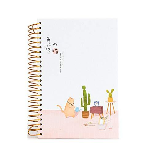 Kreskówka kotek kot gruby vintage notatnik notatnik okładka osobisty pamiętnik książka 2019 2020 szkolne artykuły papiernicze dla studenta prezent