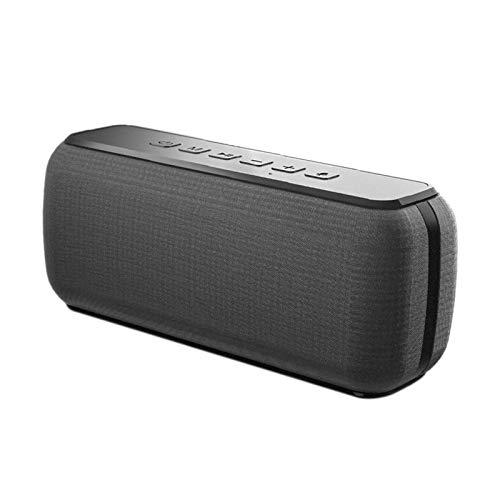 BLU-Ray Altavoz Bluetooth de Potencia de 50W Subwoofer Altavoz al Aire Libre a Prueba de Agua portátil Ordenador Personal Audio HD (Color : Black)