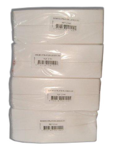 Storepil - Bandes lisses non-tissées - 4 paquets de 250 bandes pour épilation