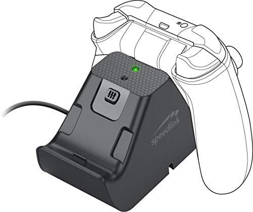 Speedlink JAZZ USB Charger Caricabatteria e Batteria per un Massimo di 2 Controller Xbox Series X/S, Nero