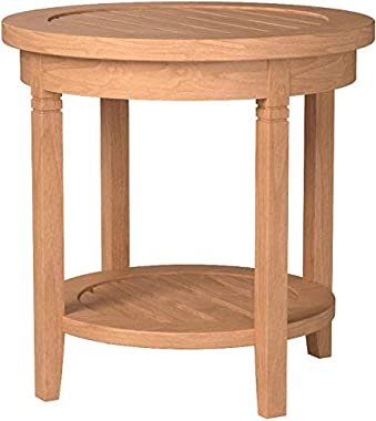 Cambridge Casual Solid Teak Wood Arie, Round Side Table