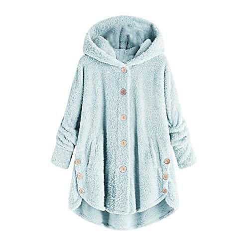 Sudadera Mujer con Capucha Abrigo De Invierno Grande Hoodie Sudadera con de Gran tamaño cálida cómoda para Adultos Mujeres Adolescentes Liquidación Venta