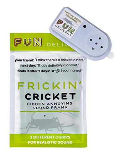 FUN delivery: Frickin' Cricket Hidden Annoying Chirping Joke Gag Prank Sound