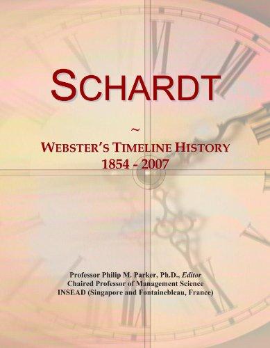Schardt: Webster's Timeline History, 1854 - 2007