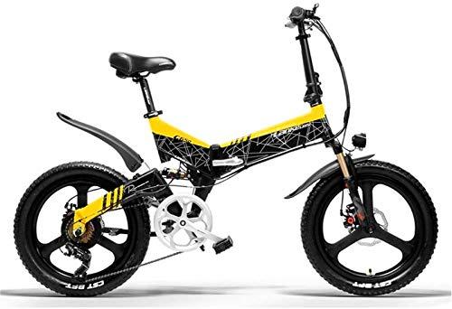 Bicicleta eléctrica de nieve, 20 En bicicleta eléctrica plegable para adultos con 400W 48V 18650 Batería de potencia Arquitectura de la batería de la aleación de magnesio E-bicicleta con sistema de cr