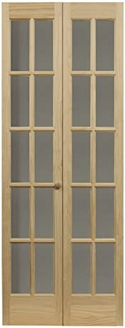 LTL Home Products 852720 Traditional French Divided Glass Interior Bifold Solid Wood Door 24 product image