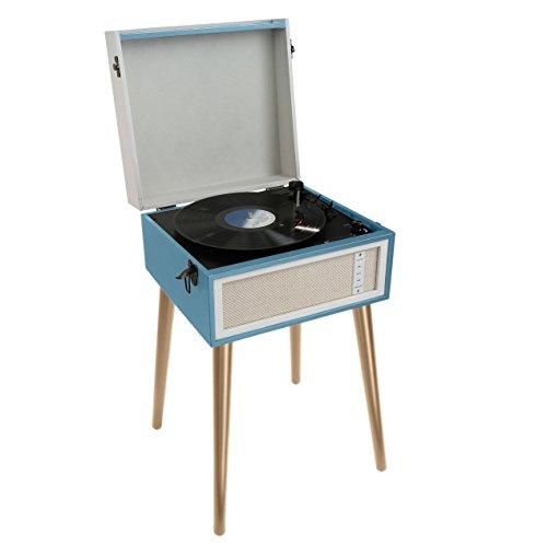 Clip Sonic Technology TES190B platenspeler, bluetooth, blauw/beige