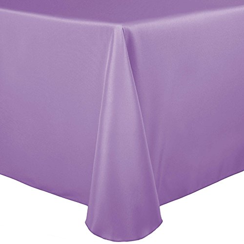 Ultimate Textile 60 x 84-Inch Oval Polyester Linen Tablecloth Lilac Light Purple