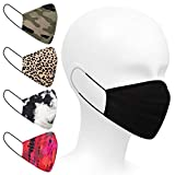 Safety Smile 5-Pack Fashion Prints Reusable 100% Cotton Face Fask- Nose Wire