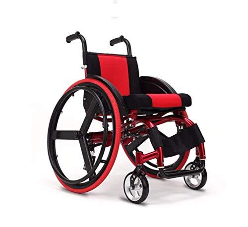 Inicio Accesorios Conducción creativa Transporte Ancianos Silla de ruedas plegable Médico Portátil Aleación de aluminio ultraligera Liberación rápida Rueda trasera Amortiguador Trolley Discapacitad