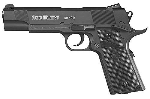 Tiendas LGP - Gamo 6111645 Pistola Aire Comprimido (CO2) Red Alert RD-1911, Pistola perdigones, Calibre 4,5 mm. BBS, Potencia de 3 Julios