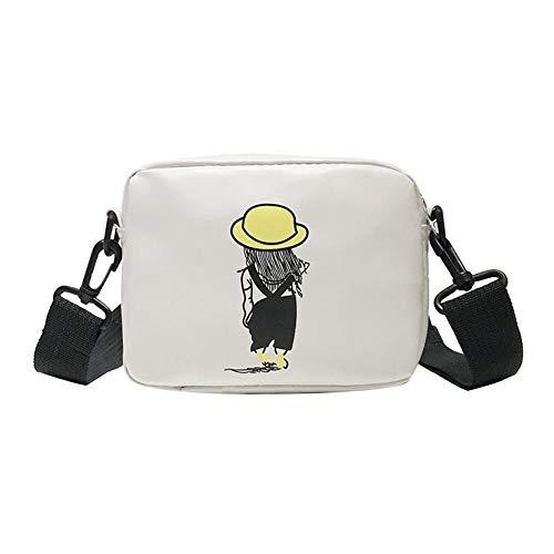 Bolsos de hombro cuadrados de impresión de dibujos animados Bolsos cruzados de cuero de la PU