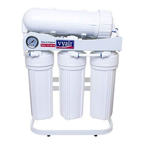 VYAIR RO-600 4-Stage 600 Gallons par Jour (2,272 litres) Système de Filtration d'eau par Osmose Inverse avec manomètre pour l'eau Potable, Les Aquariums Koi et tropicaux et Le Nettoyage des fenêtres