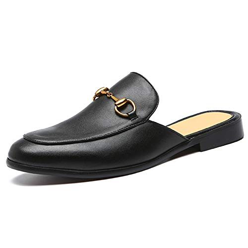 Open Back Leather Shoes for Men