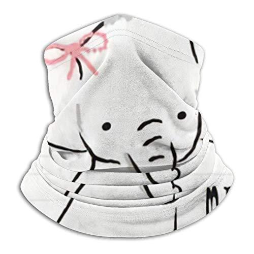 ZVEZVI Mi pequeño bebé elefante camiseta gráficos máscara de esquí clima frío mascarilla calentador de cuello capucha de lana sombreros de invierno