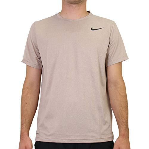 Nike Herren TOP SS HPR Dry T-Shirts, Desert Dust/Fossil Stone/Htr/B, M