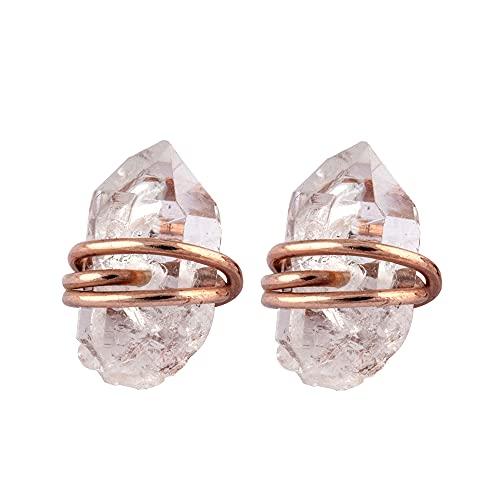 Pendientes de plata de ley 925 maciza, hechos a mano con diamantes Herkimer. Regalo para ella en cumpleaños, aniversario, día de la madre.