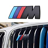 Diyucar - Stemma decorativo 3D per griglia anteriore dell'auto, con logo M nero, per F30, F 48, F34, F20, F10, F25, F26, F28, G30, G11
