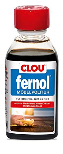 Clou Fernol Möbelpolitur Dunkel für Holzmöbel: Reinigung, Pflege und Auffrischung lackierter Möbel und Flächen, 150ml