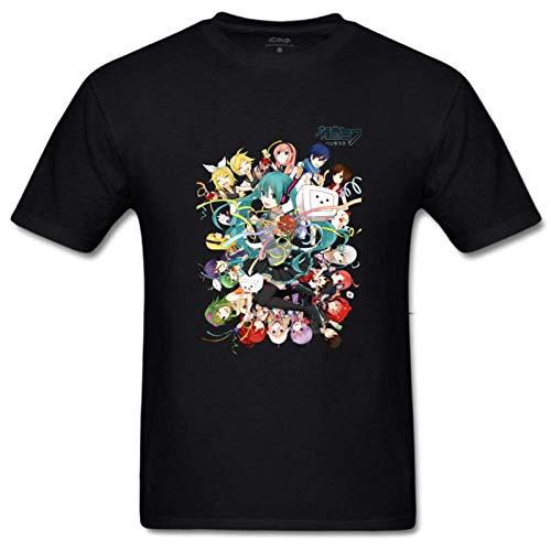 Bart Perkin Men's Render Vocaloid by ceciicaroo 100% Cotton Sleeves Short Sleeves Print T-Shirt XXL Black