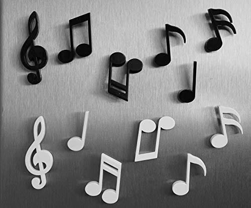 FCS Calamite da frigo 6pc Nota Musicale Magnete Musica Nera Notazione Musicale Adesivo per Frigorifero Lavagna Bianca Adesivo Magnetico per Frigorifero