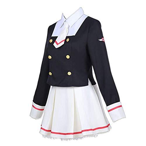 MLYWD 5PCS / Set Disfraz de Cosplay Halloween Masquerade Card Captor Sakura CCS Kinomoto Sakura JK Daily Academia High School Uniform Suits Disfraces