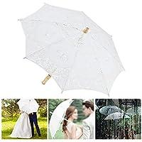 結婚式の傘を運ぶのに十分な繊細で優雅な絶妙な技量のコンパクト お祝いの装飾 パーティーのための劇場公演(Beige small, blue)
