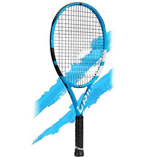 Raquetas Tenis De Carbono Completo Tenis Juvenil Tenis Individual Entrenamiento De Tenis Deportes Al Aire Libre (Color : Blue, Size : 26in)