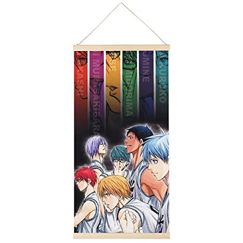 Póster de anime Kuroko's Basketball Hang A Picture Hanger Poster Frame Hanging Scroll Posters Lienzo Decorativo Pintura de Pared Decoración Sala 40,6 x 81,3 cm