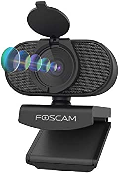 Foscam 2K 4MP Webcam with Dual Noise Reduction Microphones