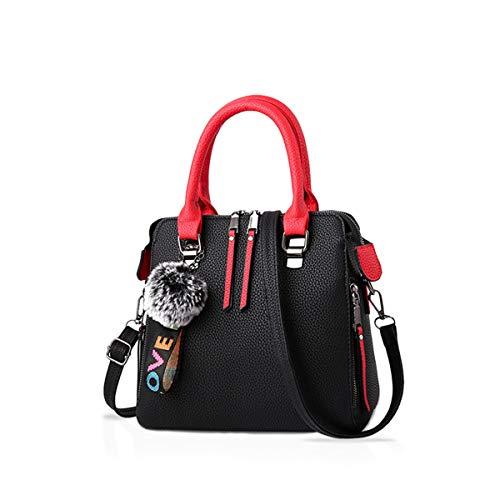 NICOLE&DORIS Mujer Moda Bolsos de mano Clásico Señoras Cuerpo cruzado Bolsa de hombro Bolsa de mensajero Cuero Gran capacidad Negro