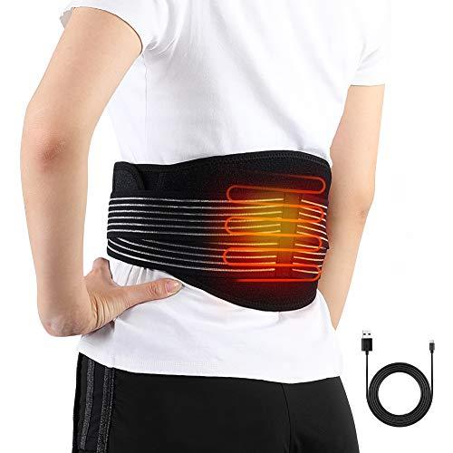 Haofy fascia riscaldante schiena elettrica, lombare riscaldato cintura per uomo e donne, fascia in vita di calore per terapia lombare, sollievo dal dolore e dalla tensione muscolare