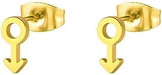 لطيف صغير الشرير الفولاذ المقاوم للصدأ الرجال رمز الأذن مسمار الأقراط للبنات 4 لهجة