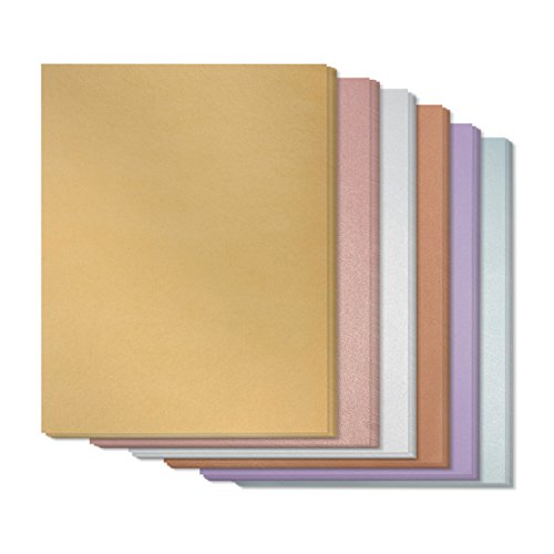 Metallic Shimmer Paper Sheets for Crafting (8.5 x 11 Inches, 6 Colors, 48-Pack)