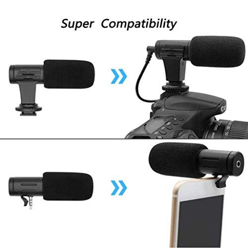 prasku Mikrofon Kondensator Richtmikrofon Externe Stereo DSLR Smartphone Mikrofon