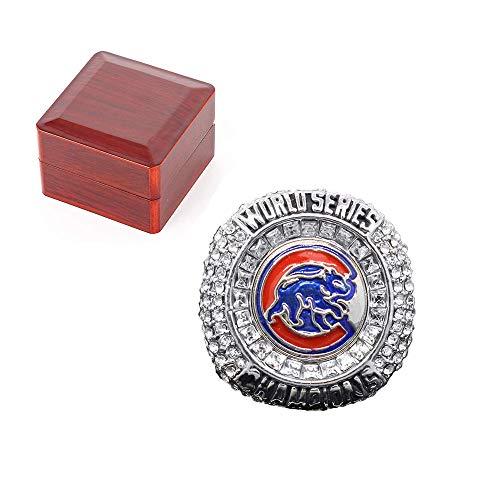 SHUFEI RingeBaseball-Meister-Replica-Ring, 2016 League Baseball Chicago Cubs Championship Ring für Fans Geschenk Sammler Größe 9-12,B,9