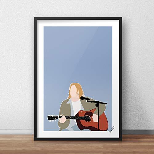 Von Kurt Cobain inspirierte Illustration.