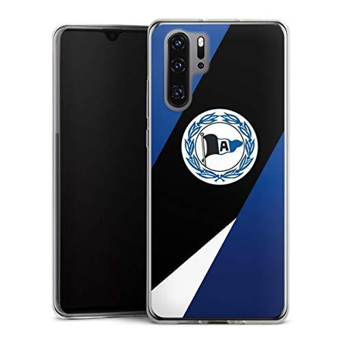 DeinDesign Slim Case extra dünn kompatibel mit Huawei P30 Pro Silikon Handyhülle transparent Hülle Offizielles Lizenzprodukt Arminia Bielefeld DSC