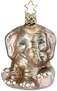 Inge-Glas Elephant Elli Phant 1-037-13 German Blown Glass Christmas Ornament