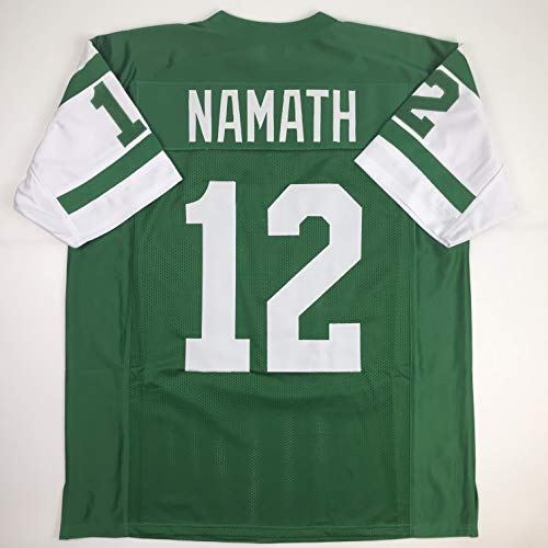 Unsigned Joe Namath New York Green Custom Stitched Football Jersey Size XL New No Brands/Logos