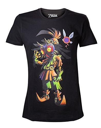 Legend of Zelda Nintendo Legend Of Zelda Men's Skull Kid Majoras Mask T-shir-camiseta Hombre, Negro (Schwarz), Medium