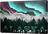 XIAOBAO Urlaubsreiseagentur Alaska Vintage Blechschild Pub