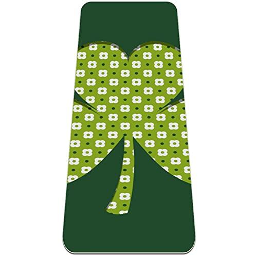 nakw88 Alfombrilla plegable de trébol verde para gimnasia y yoga, antideslizante, para...