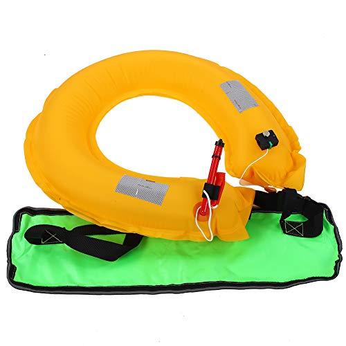 Equipo de flotación, chaleco hinchable con chaleco de submarinismo, chaleco de rescate, pesca de caza, canoa para Fluorescent Green