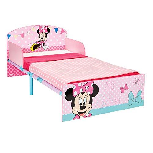 Disney Hello Home Cama Infantil con diseño de Minnie Mouse, Madera, Rosa,...