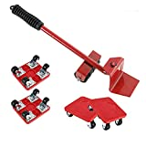 Sollevatore per Mobili Rullo di Trasporto per Mobili, con 4 Dispositivi di Scorrimento, Capacità di carico massima 400KG