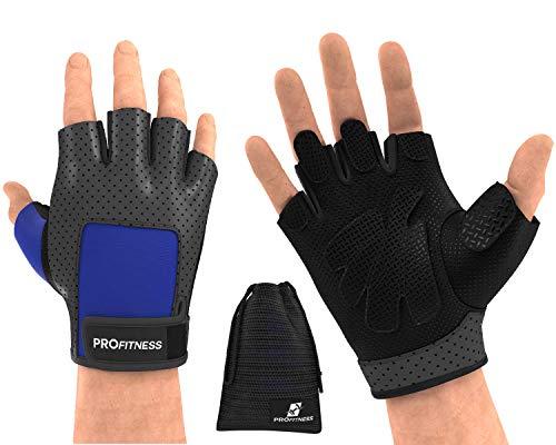 grips road bike gloves black work gloves golds gym gloves spartan gloves sport suit for men cycling Gloves for women gym glove hand grips mens weight lifting gloves wheel (Medium, Black/Blue)