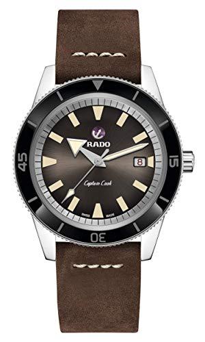 Rado herenhorloge armband leer bruin behuizing automatisch analoog R32505305